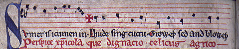 Manuscript of Sumer is -icumen in