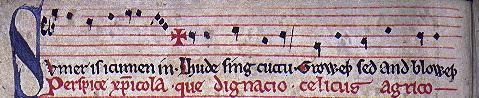 Manuscript of Sumer is -icumen in