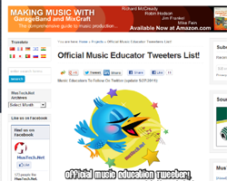 music theory tweeters list